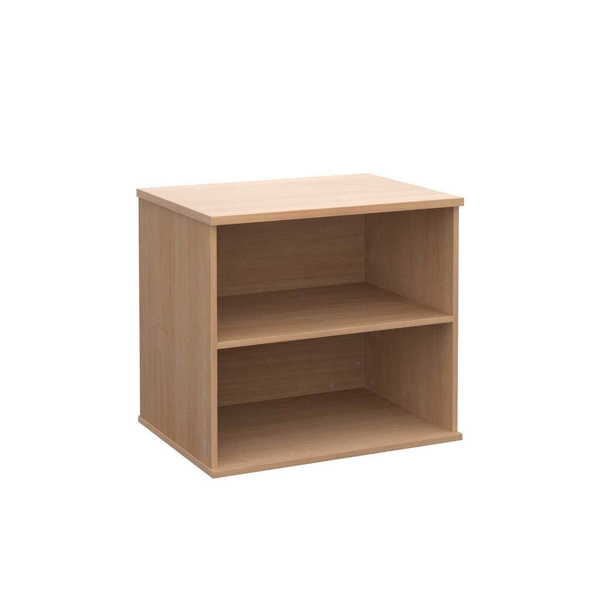 Desk High Bookcase with 1 Shelf, Beech
