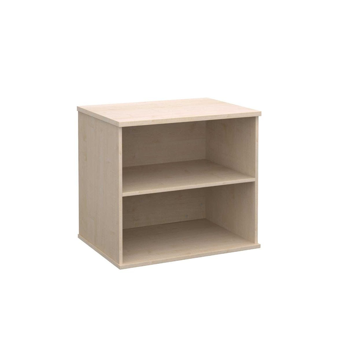 Desk High Bookcase with 1 Shelf, Maple