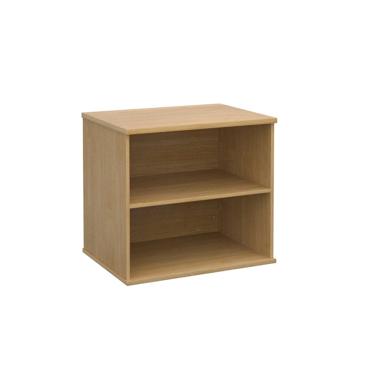 Desk High Bookcase with 1 Shelf, Oak