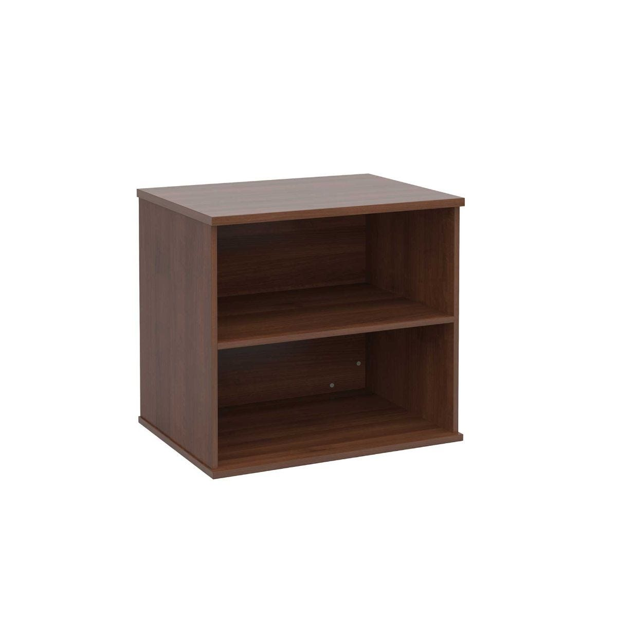 Desk High Bookcase with 1 Shelf, Walnut