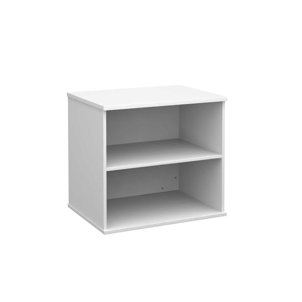 Desk High Bookcase with 1 Shelf, White