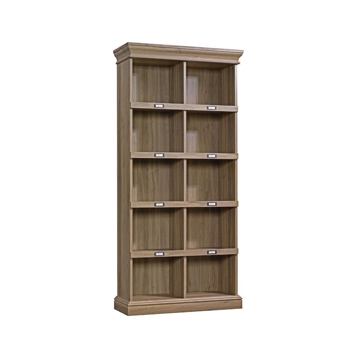 Teknik Office Barrister Home Tall Bookcase Salt Oak Effect