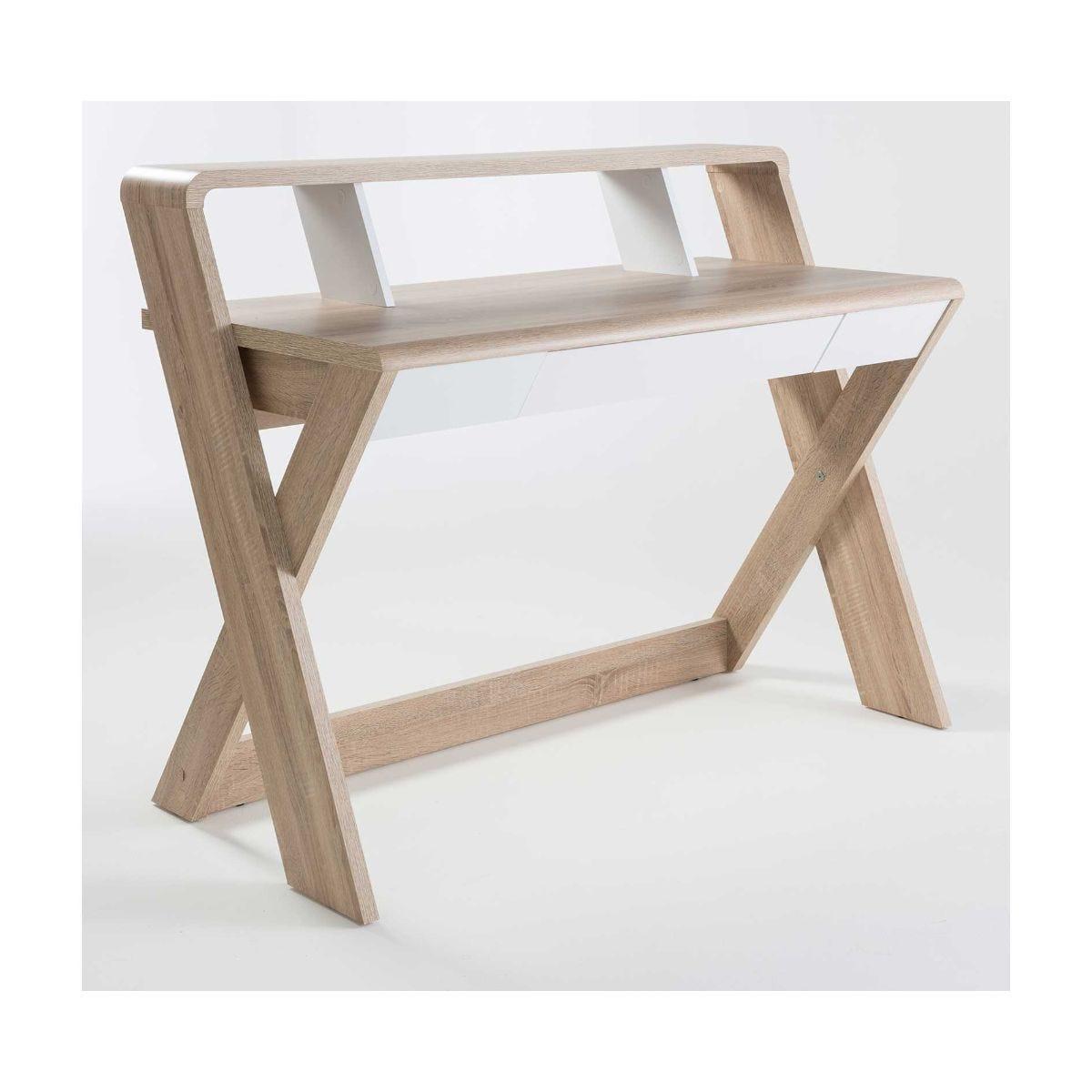scribed oak effect home sauder barrister desks shop home office ryman