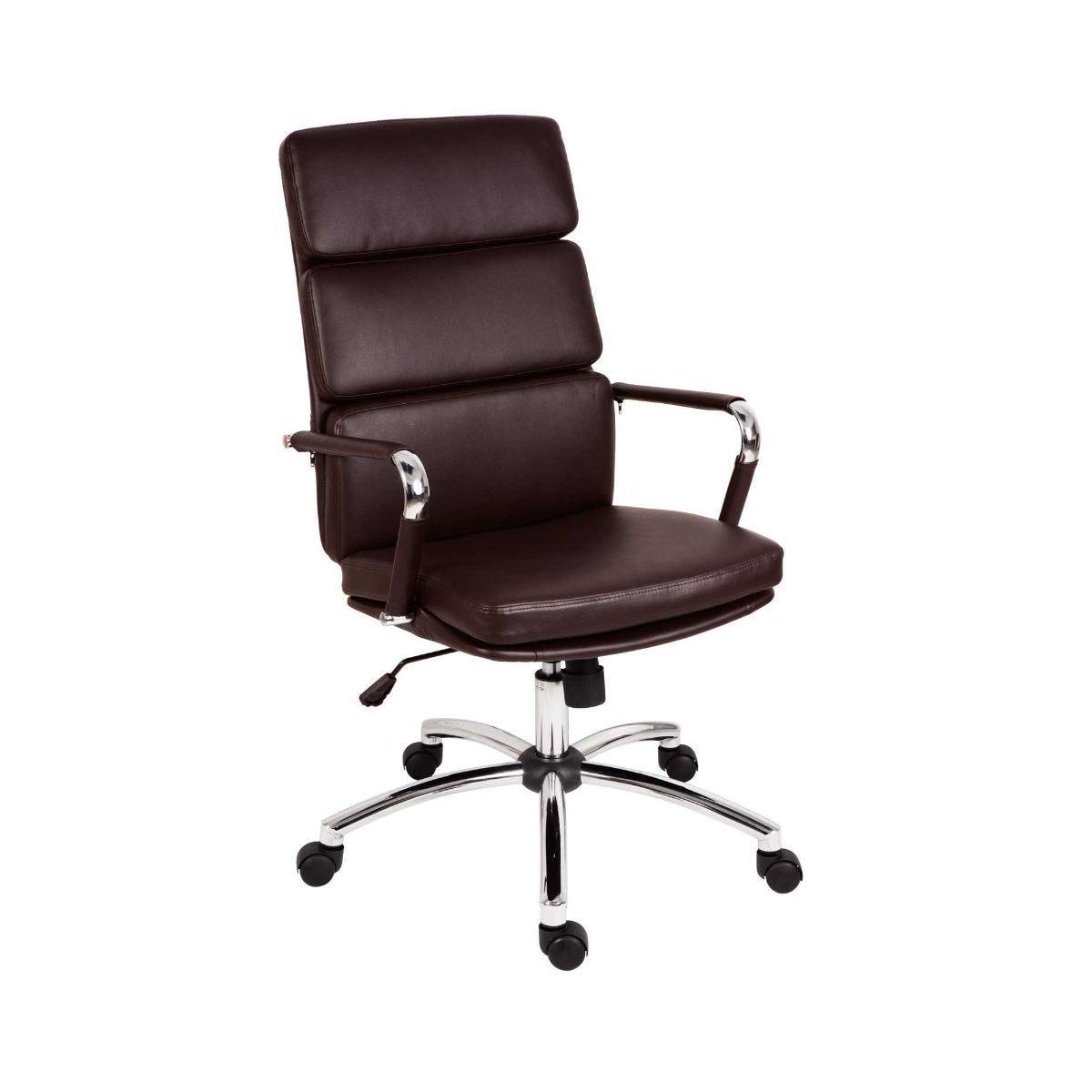 Deco Executive Retro Eames Style Chair Brown