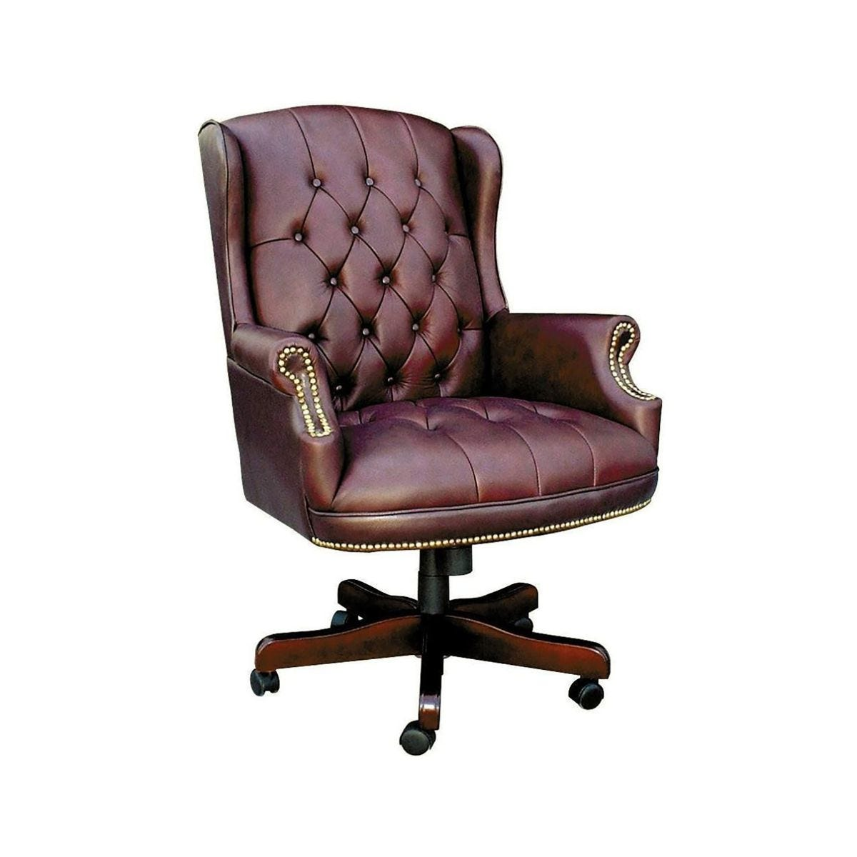 Teknik Office Chairman Swivel Executive Office Chair, Burgundy