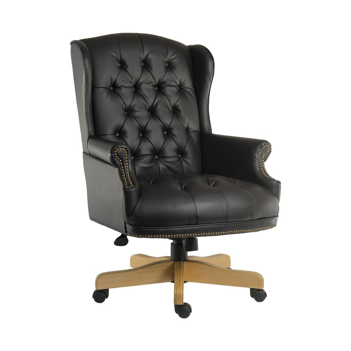 Teknik Office Chairman Swivel Executive Office Chair, Black