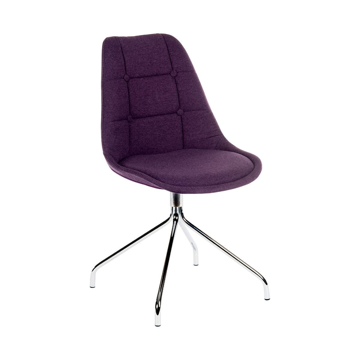 Teknik Office Breakout Soft Padded Office Chair Pack of 2, plum