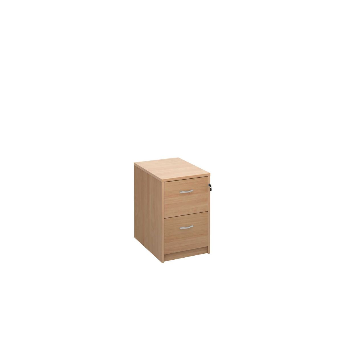 Deluxe Executive Two Drawer Filing Cabinet, Beech