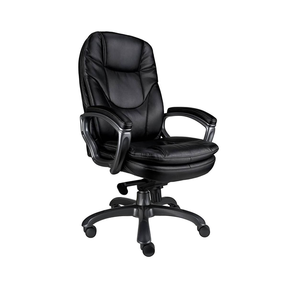 Eliza Tinsley Leather Executive Office Chair Black, Black