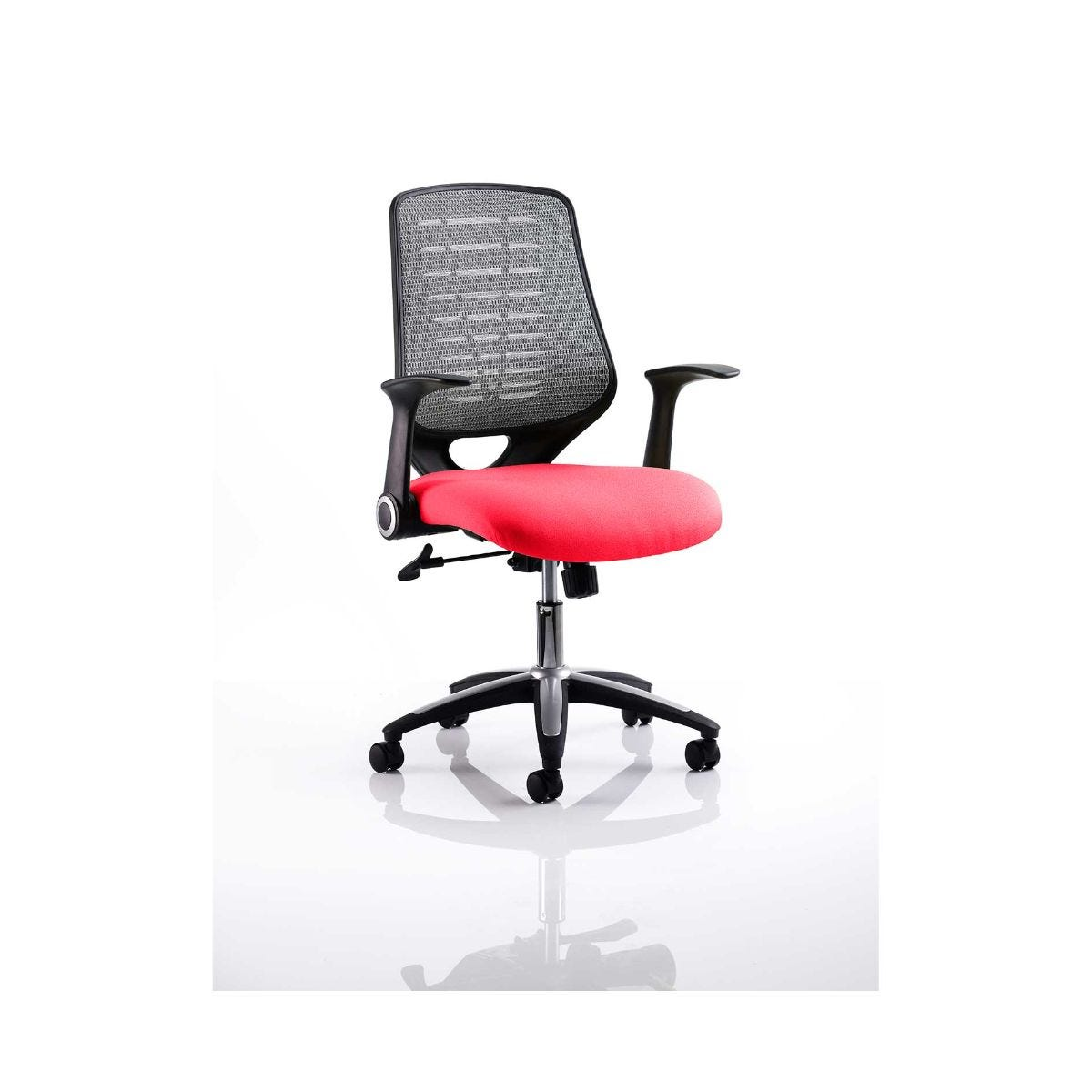 Relay Mesh Back Office Chair Silver, Cherry