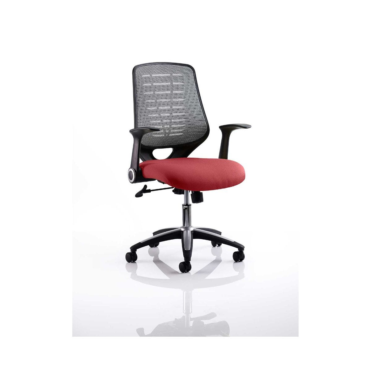 Relay Mesh Back Office Chair Silver, Chilli
