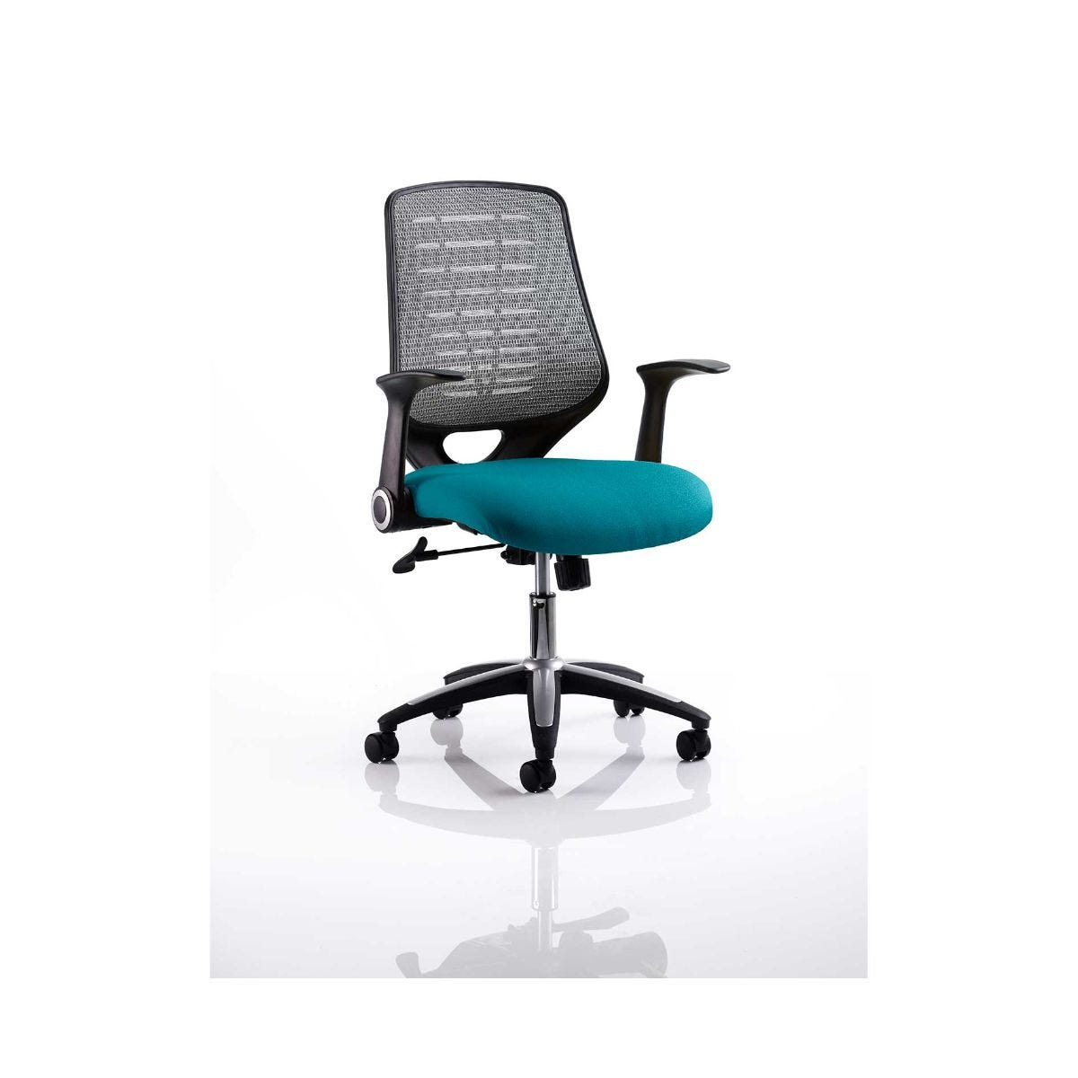 Relay Mesh Back Office Chair Silver, Kingfisher