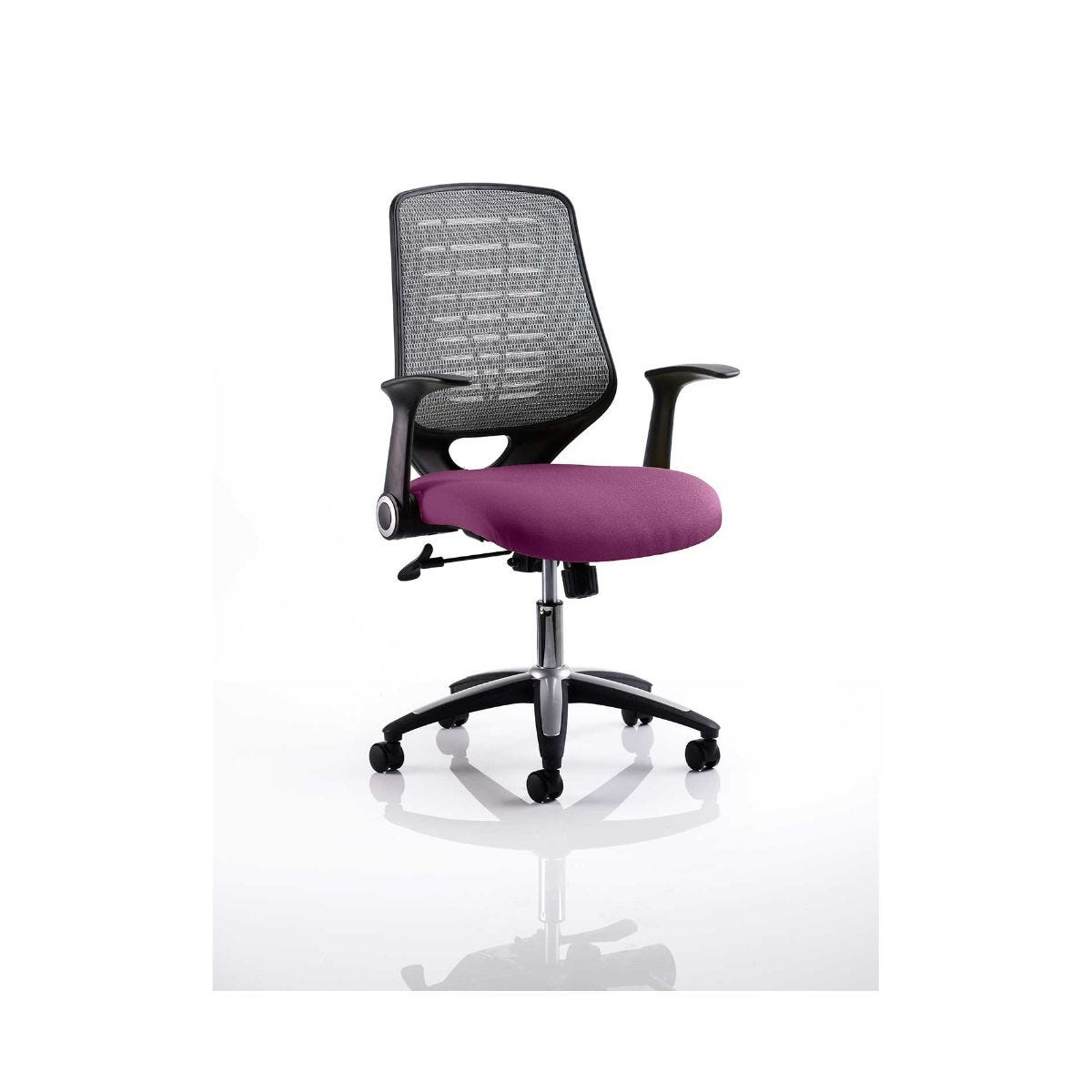 Relay Mesh Back Office Chair Silver, Purple