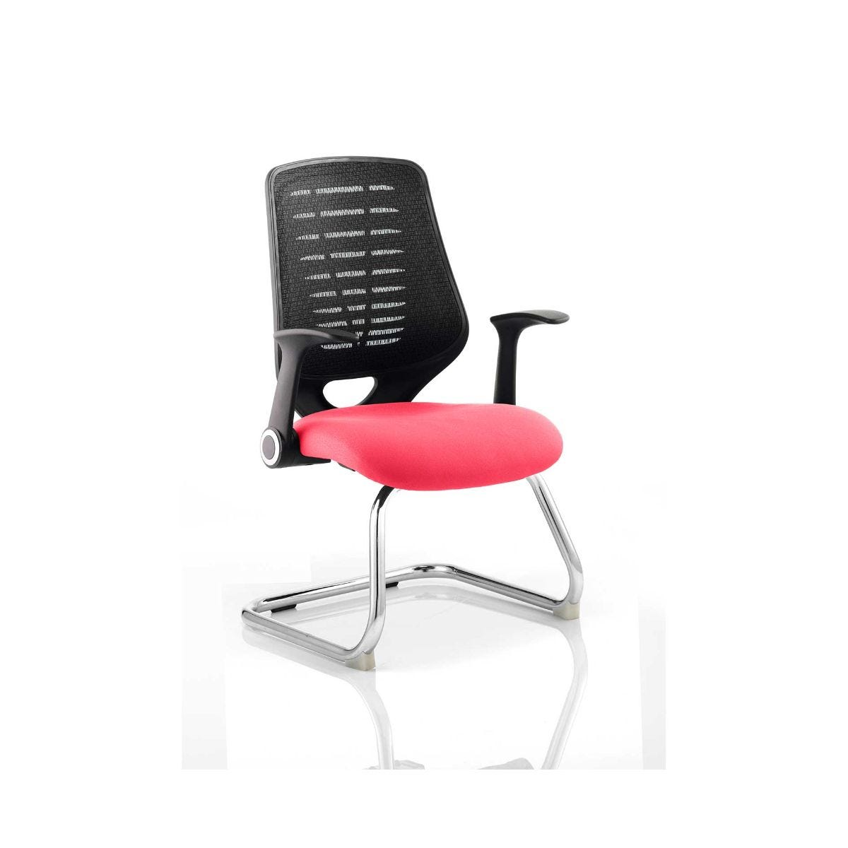 Relay Black Back Office Chair, Cherry