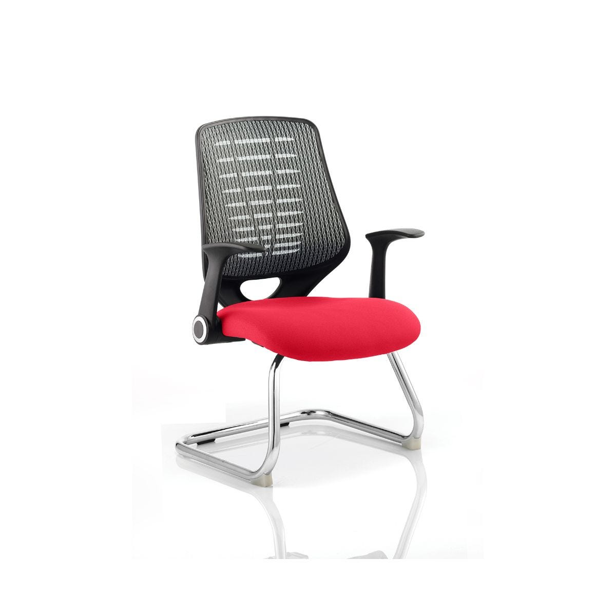 Relay Silver Back Office Chair, Cherry