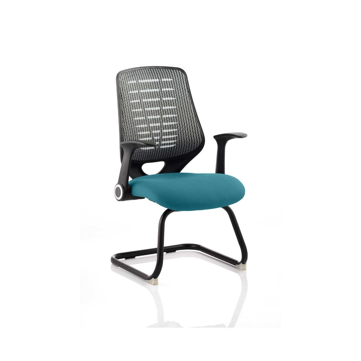 Relay Silver Back Office Chair, Kingfisher