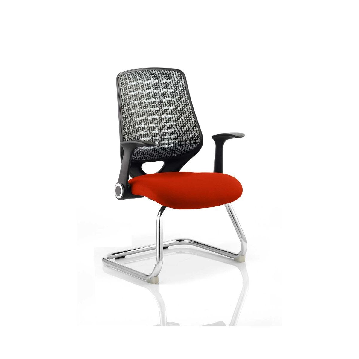Relay Silver Back Office Chair, Tabasco