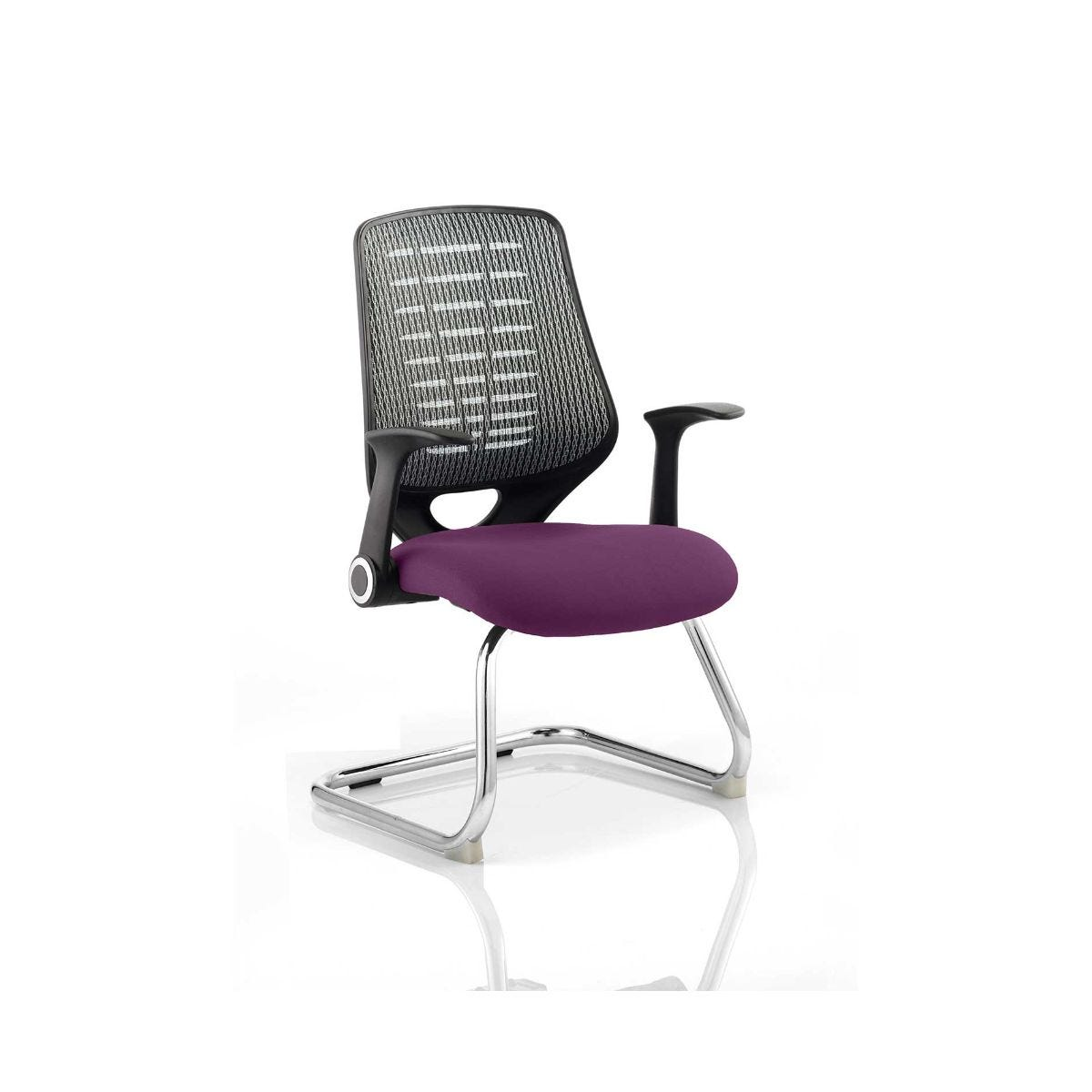 Relay Silver Back Office Chair, Purple