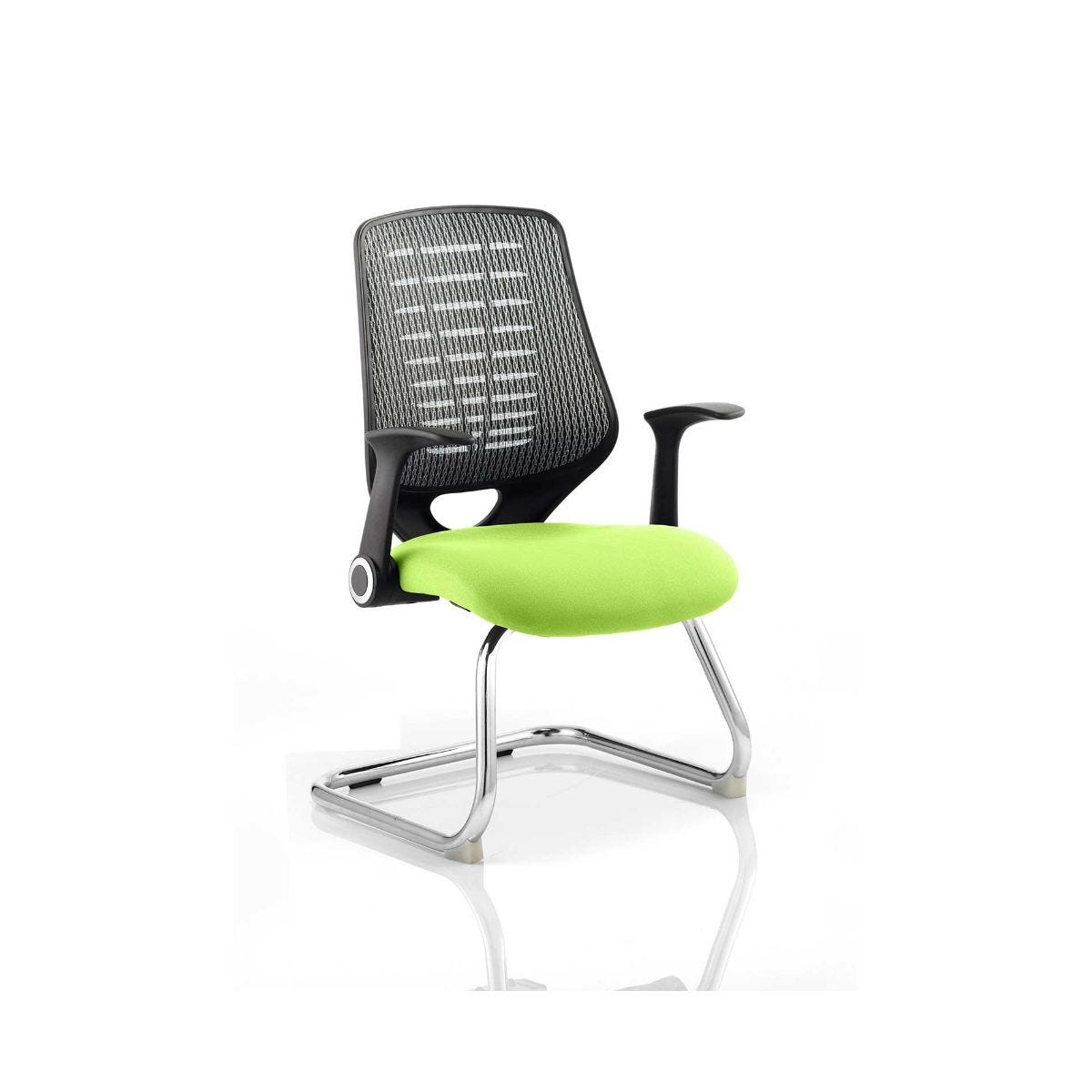 Relay Silver Back Office Chair, Swizzle