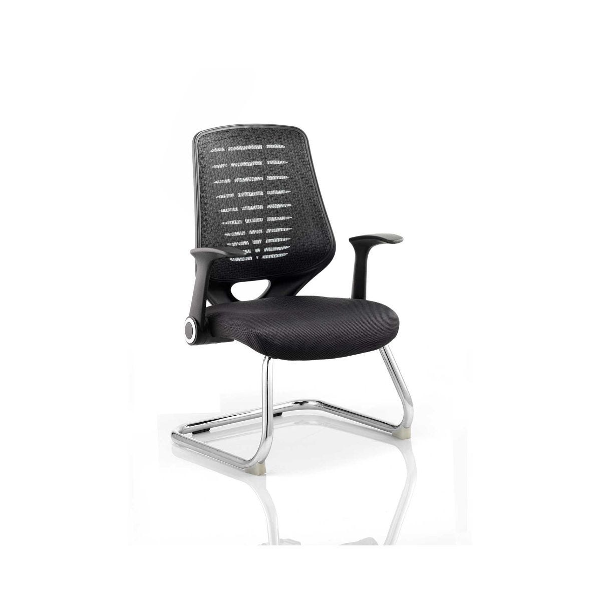 Relay Visitor Airmesh Office Chair, Black