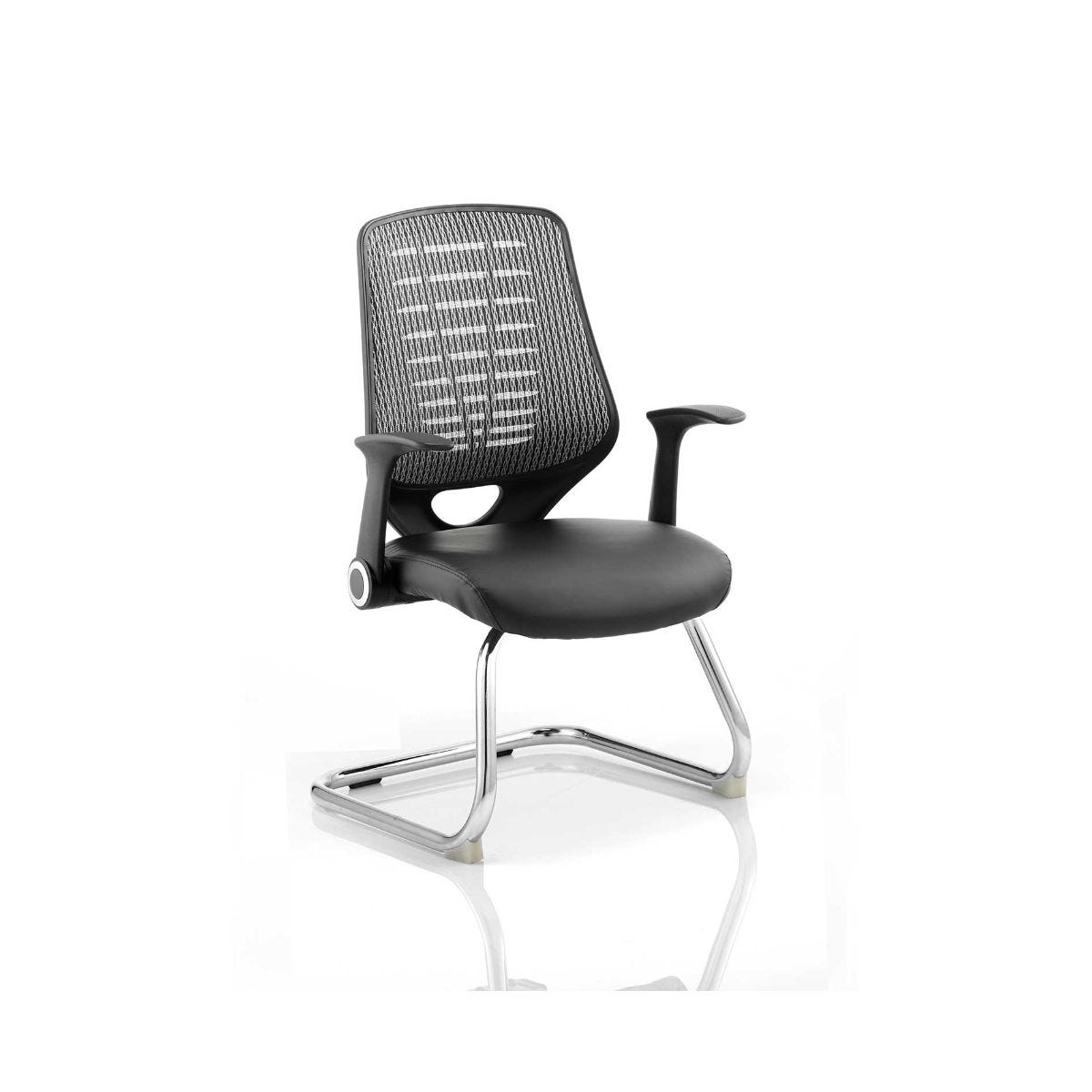 Relay Visitor Airmesh Office Chair, Silver