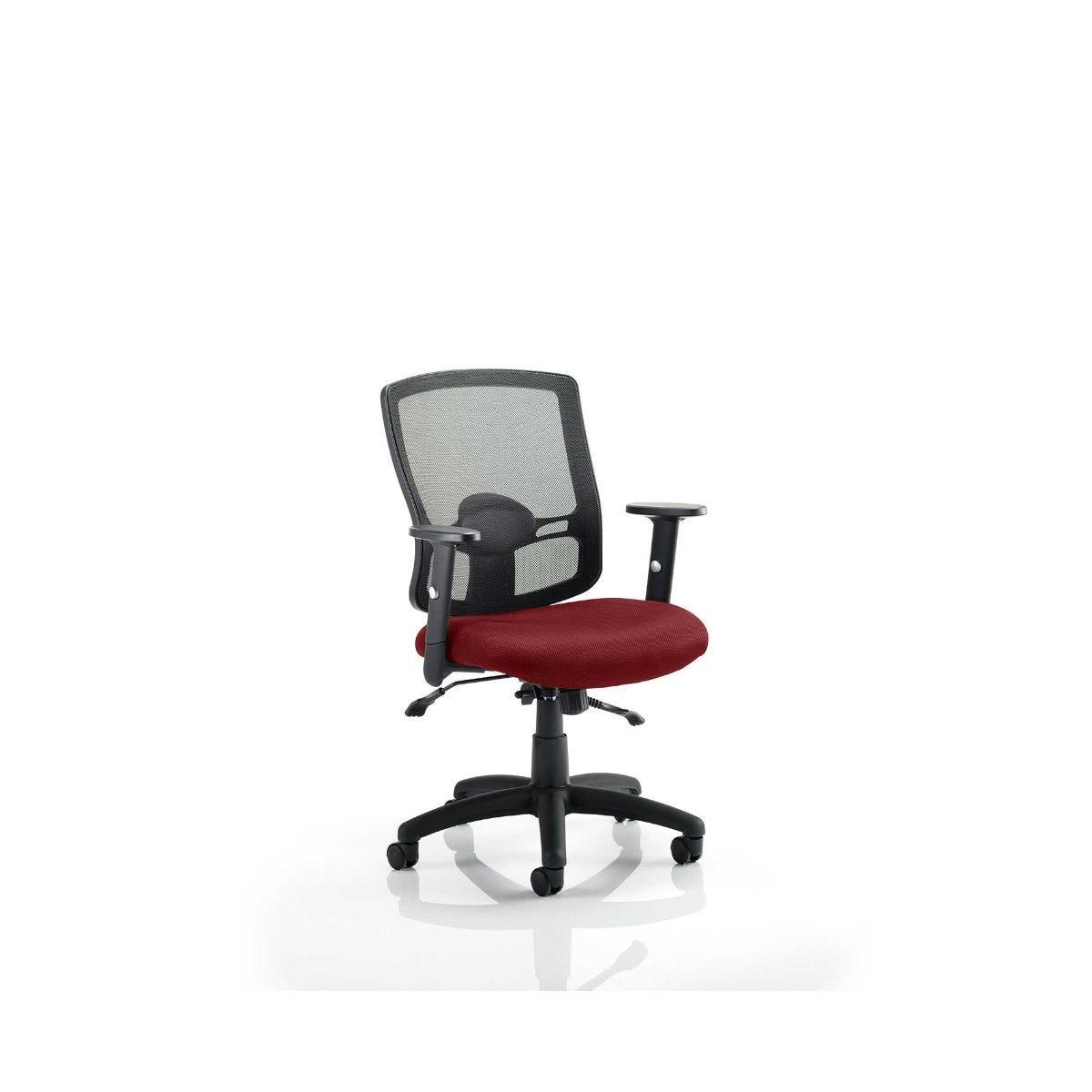 Portland Colour Office Chair, Chilli