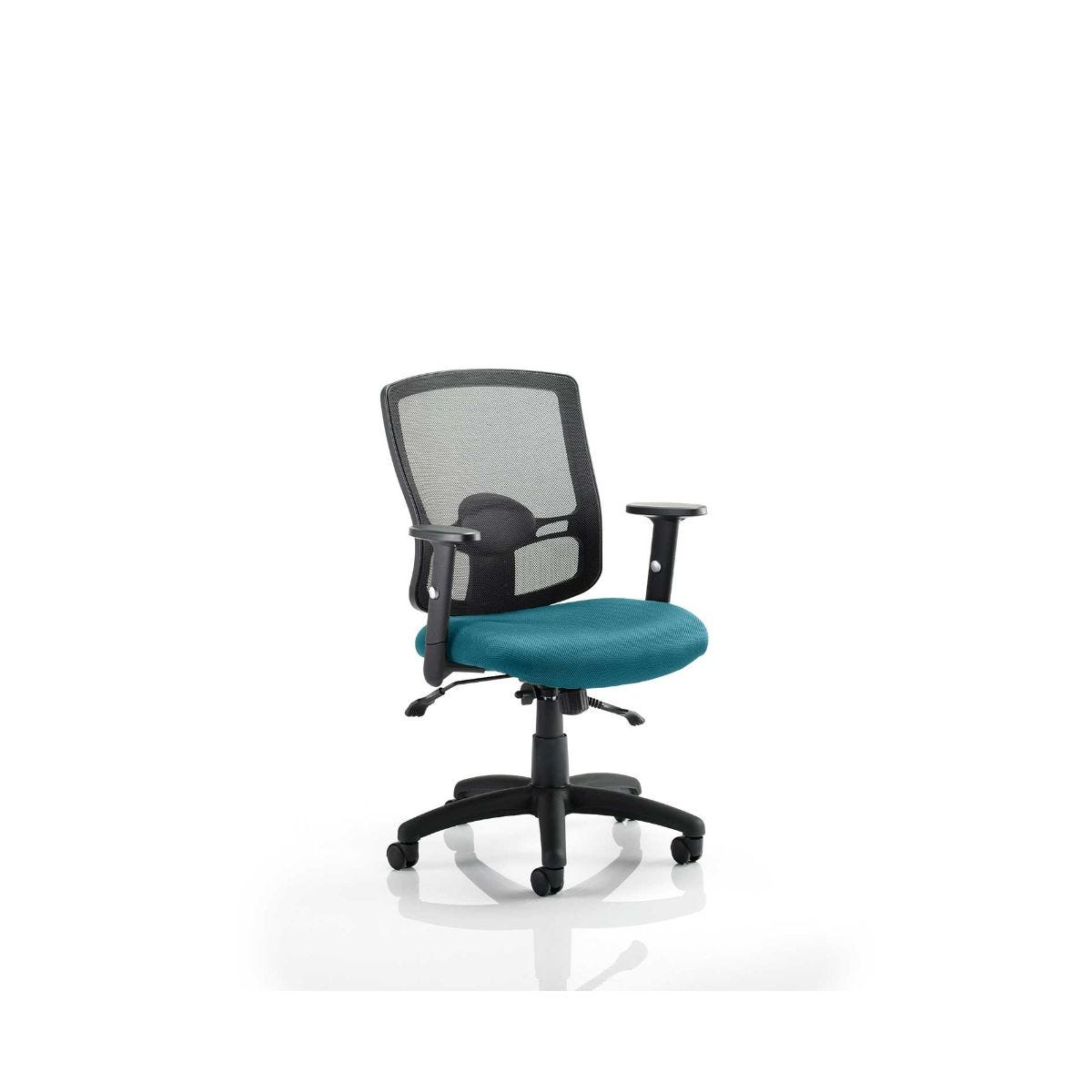 Portland Colour Office Chair, Kingfisher