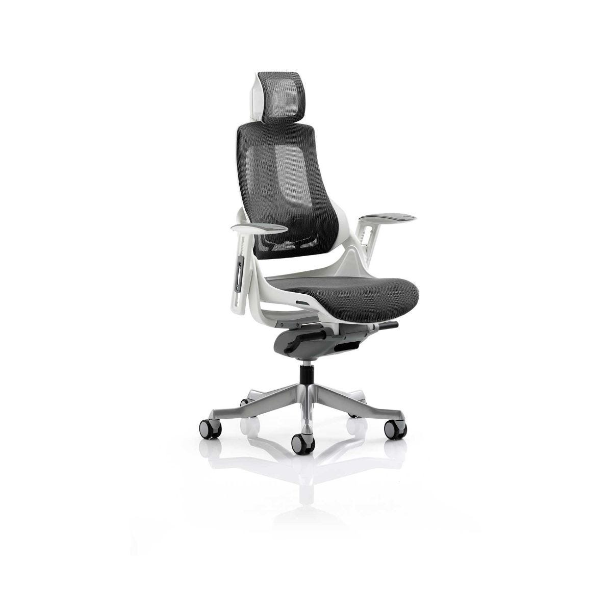 Zure Mesh Executive Office Chair With Headrest, Black