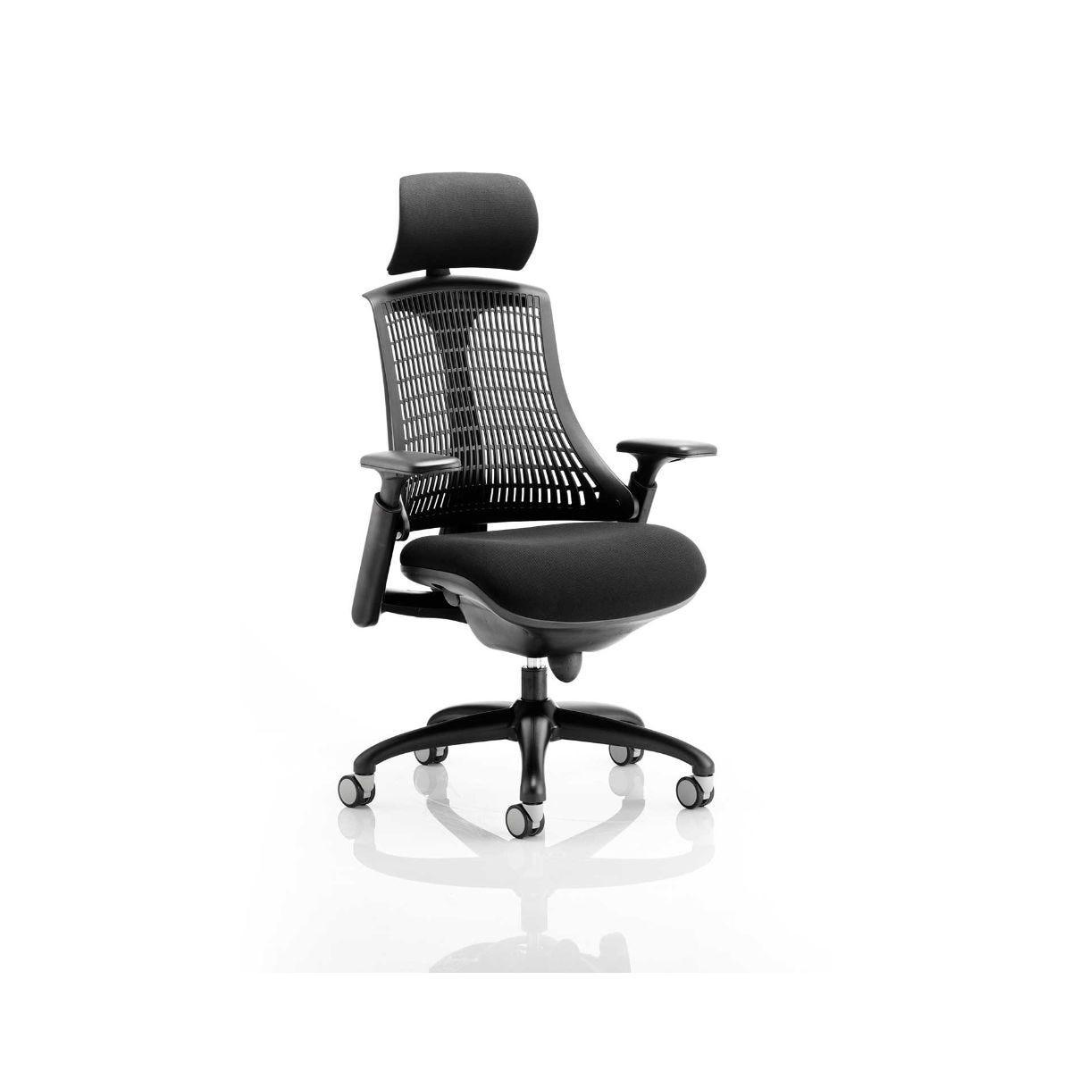 Flex Task Operator Office Chair With Headrest, Black
