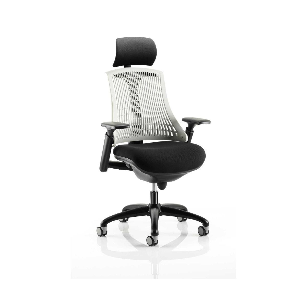 Flex Task Operator Office Chair With Headrest, Moonstone