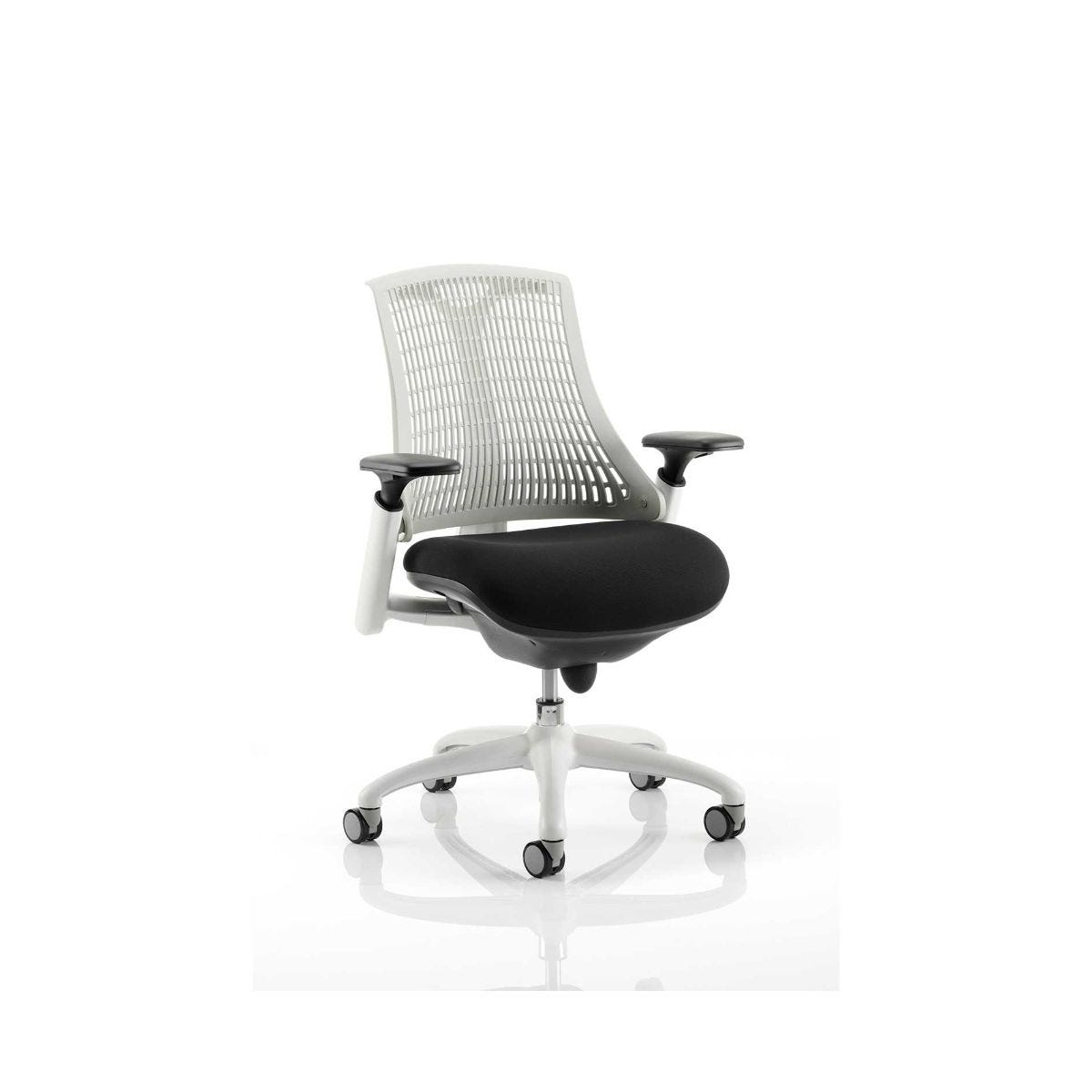 Flex Operator Office Chair White Frame, Moonstone