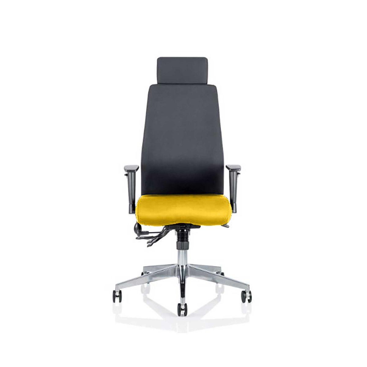 Onyx Office Chair With Headrest, Senna