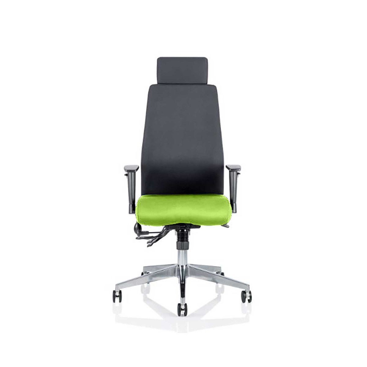 Onyx Office Chair With Headrest, Swizzle