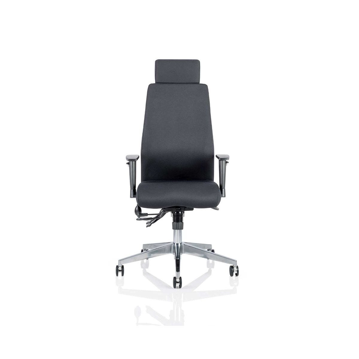 Onyx Posture Office Chair With Headrest, Black