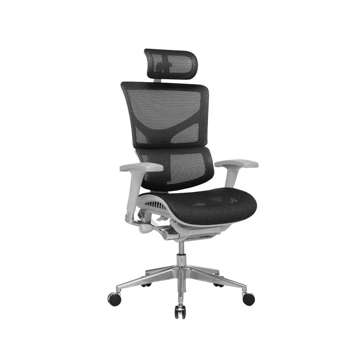 Ergonomic Mesh Office Chair With Headrest, Black