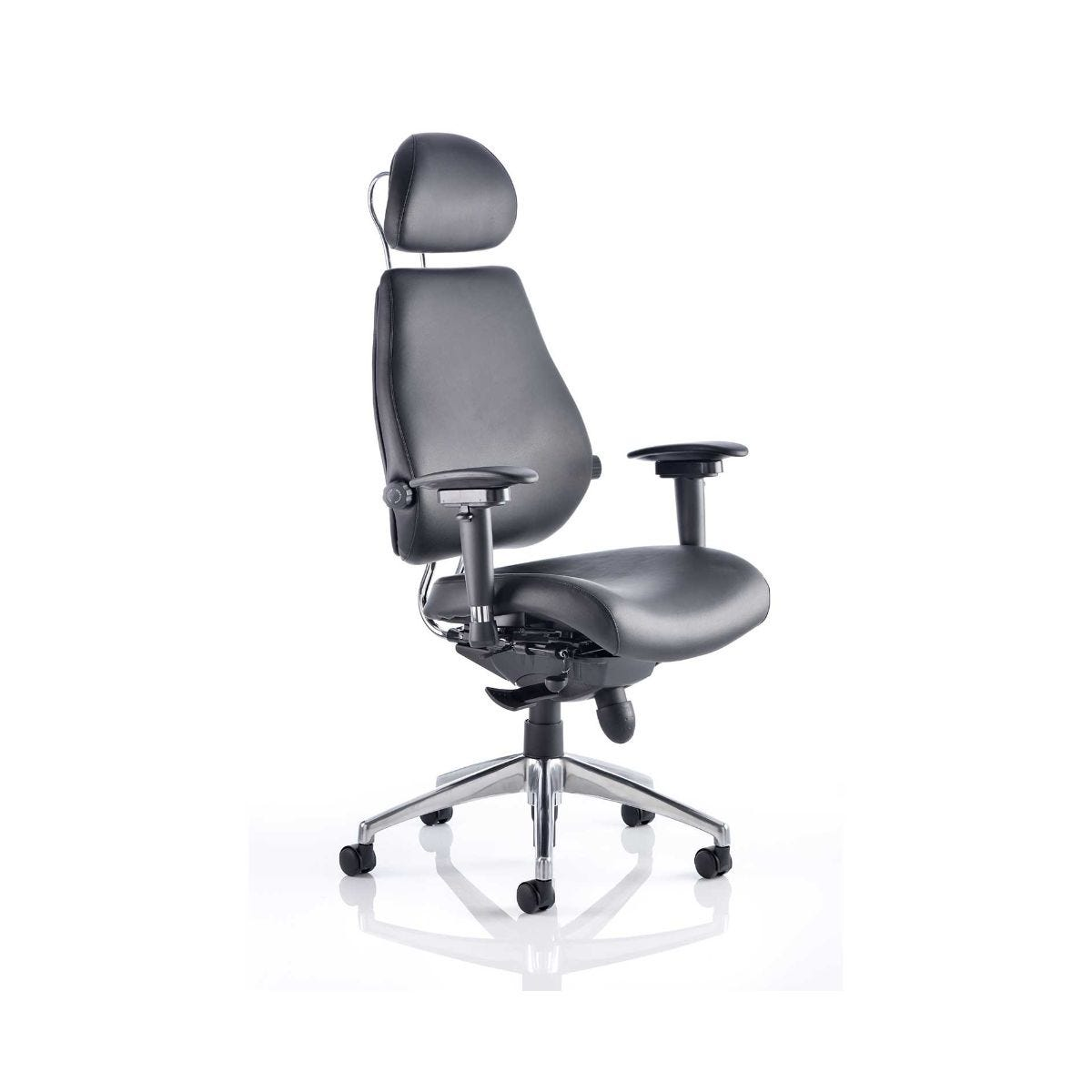 Chiro Plus Leather Office Chair, Black