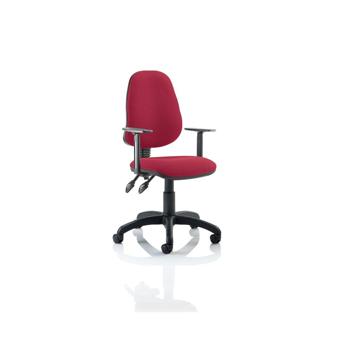 Eclipse II Task Operator Office Chair Arms, Wine