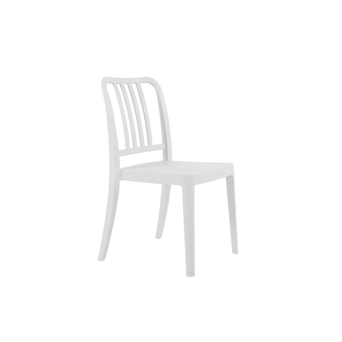 Rock Side Chair, Artic White