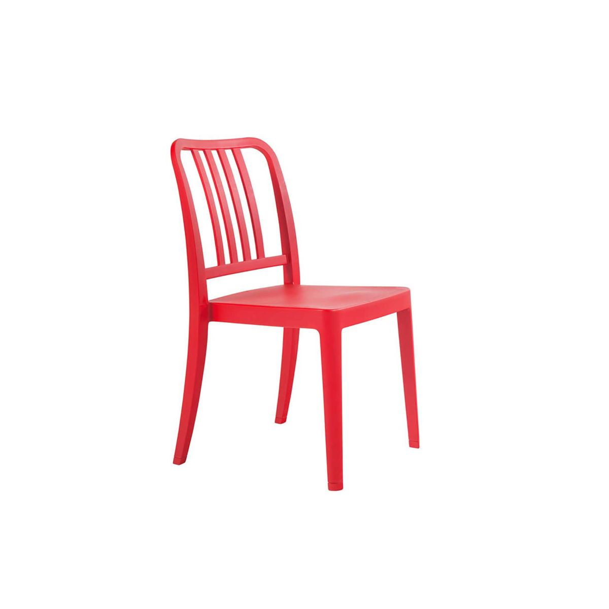 Rock Side Chair, Red