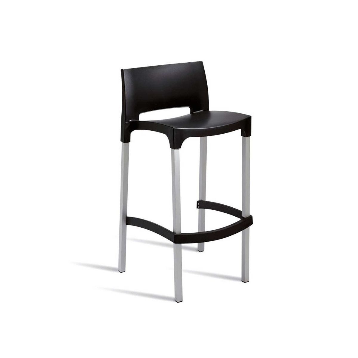 Bud Bar Outdoor Stool, Black
