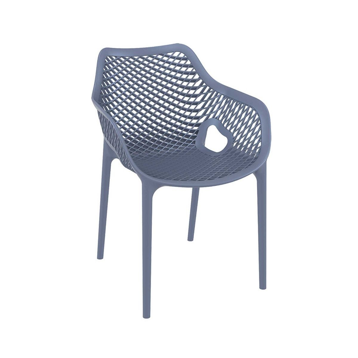 Spring Outdoor Arm Chair, Anthracite
