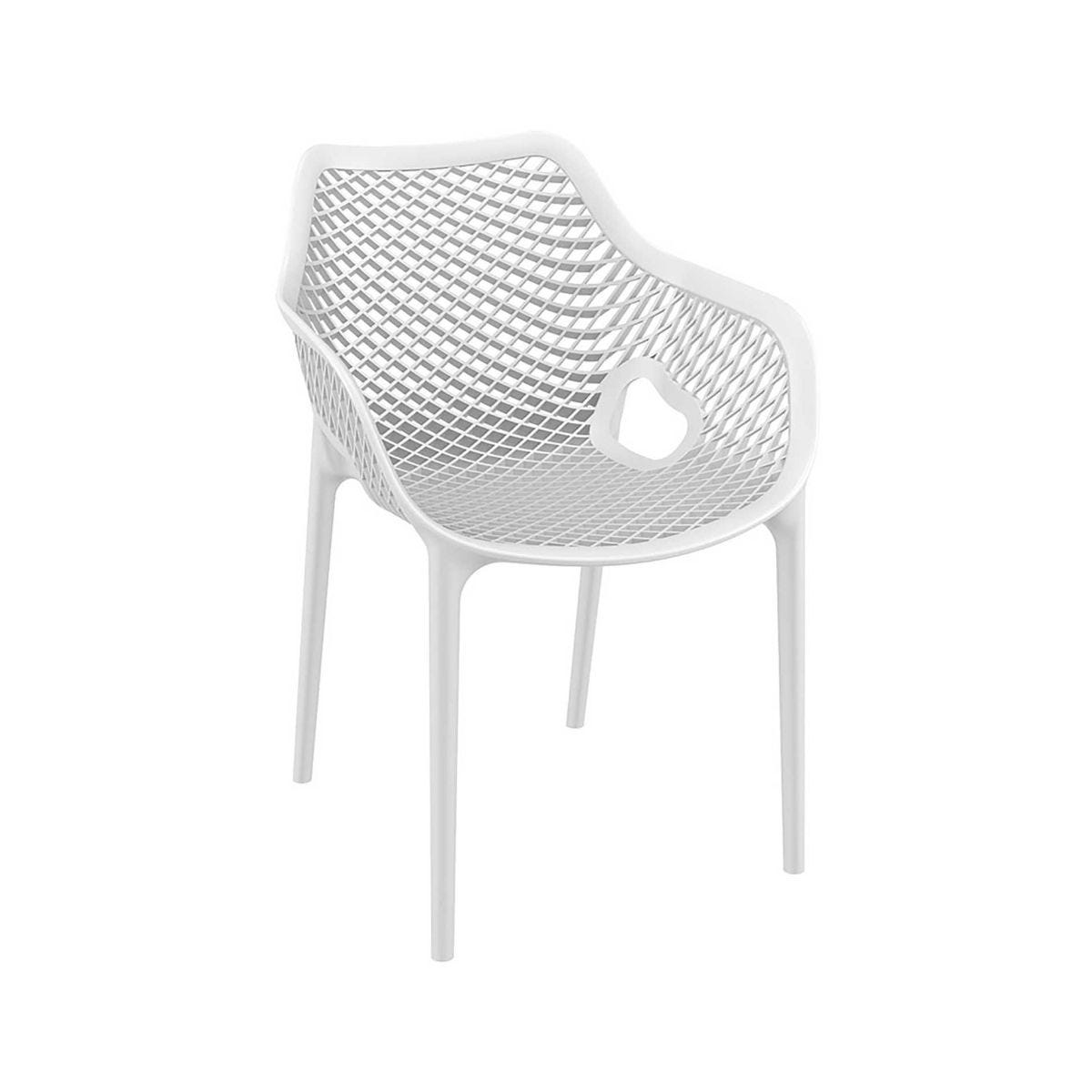 Spring Outdoor Arm Chair, White