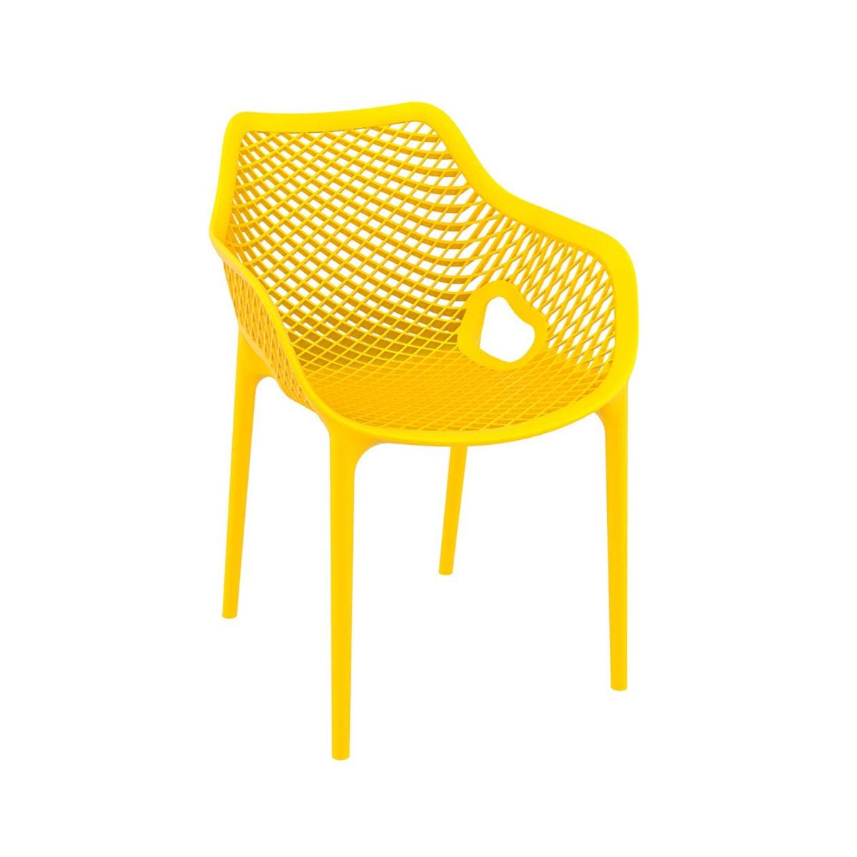 Spring Outdoor Arm Chair, Yellow