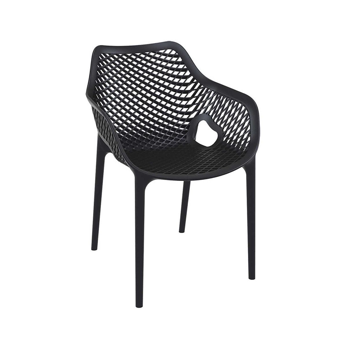 Spring Outdoor Arm Chair, Black