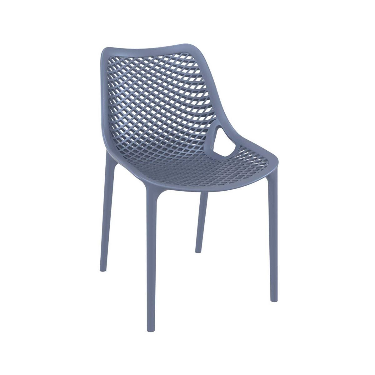 Spring Outdoor Side Chair, Anthracite