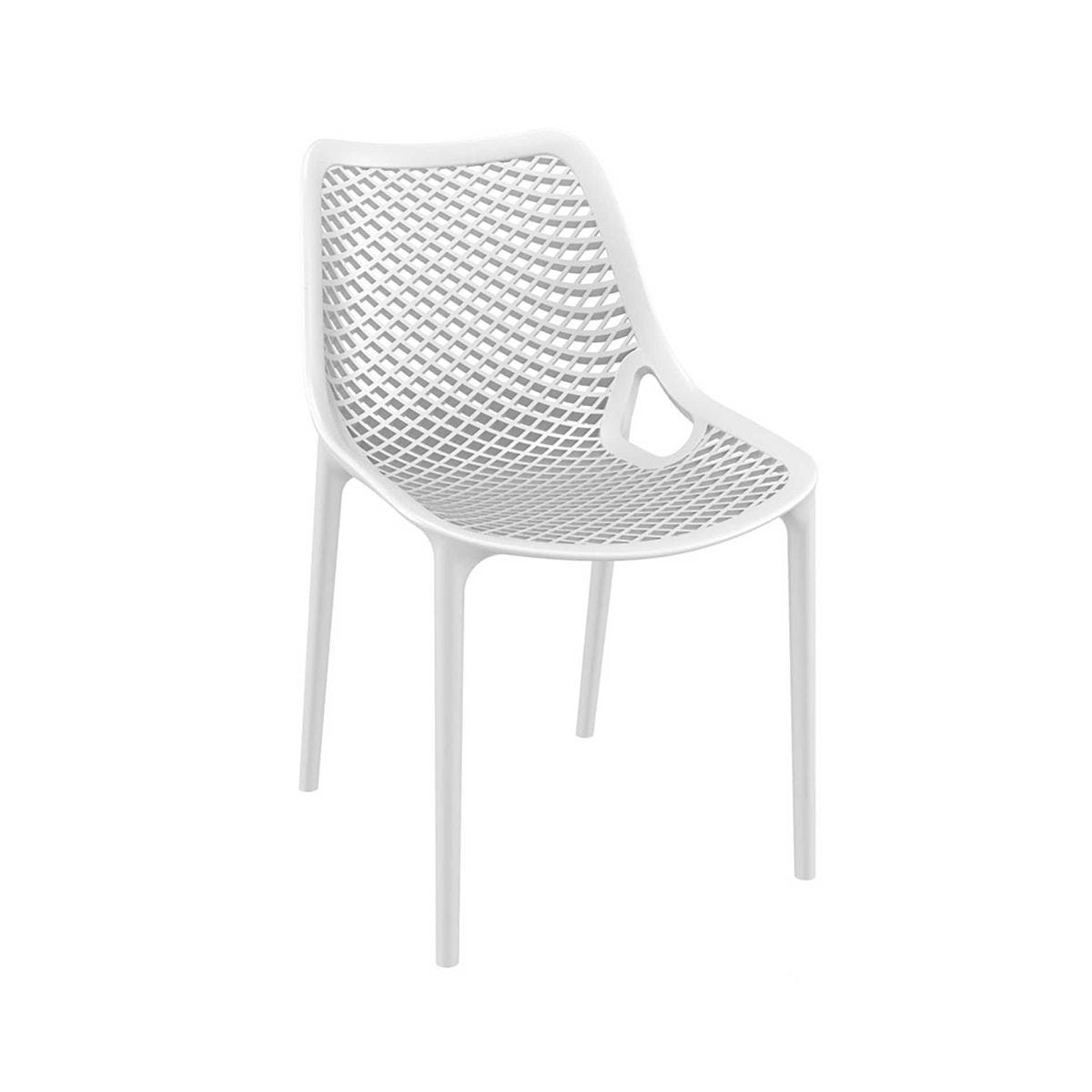 Spring Outdoor Side Chair, White