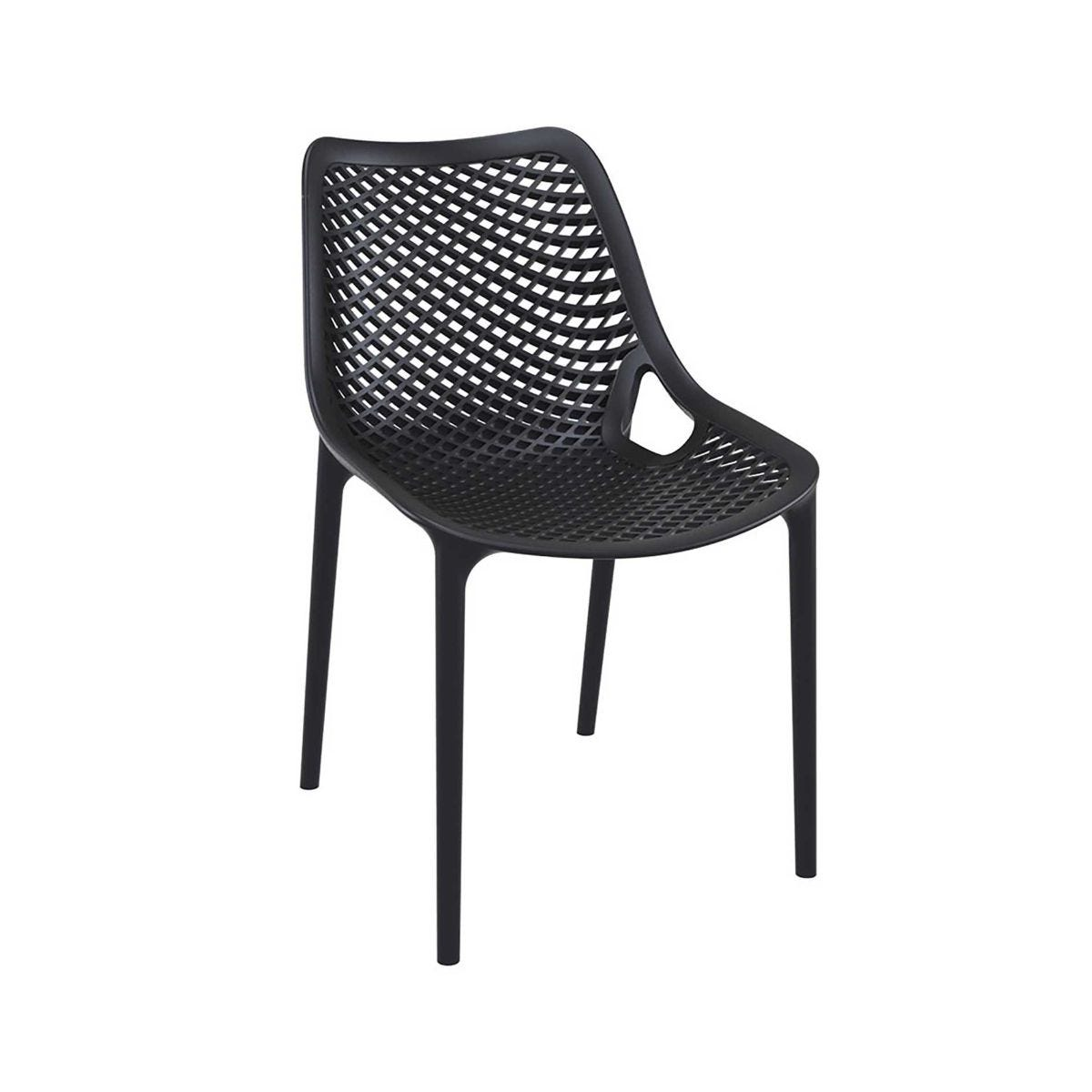 Spring Outdoor Side Chair, Black