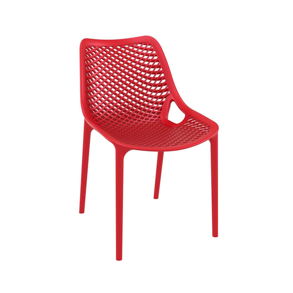 Spring Outdoor Side Chair, Red