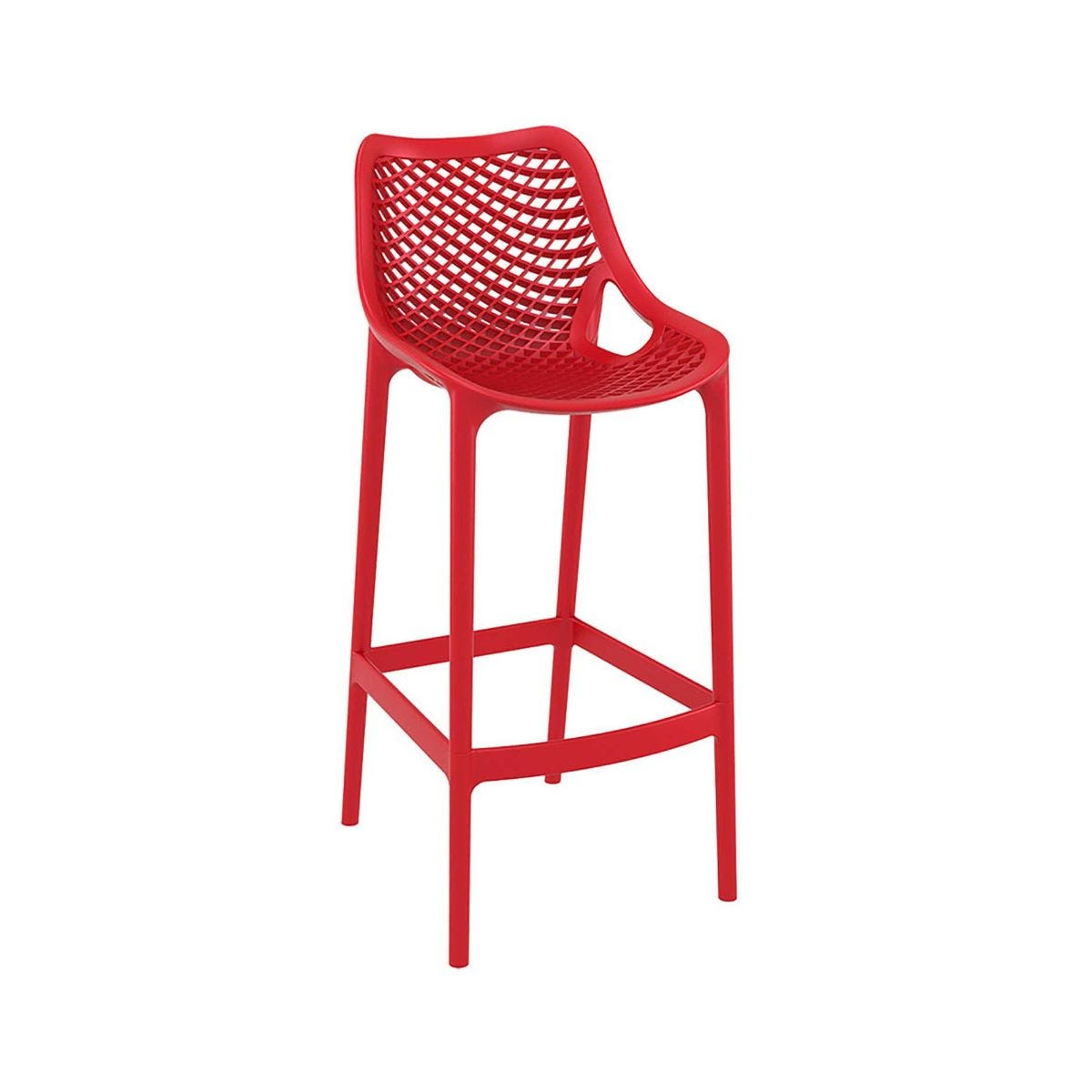 Spring Outdoor Bar Stool, Red