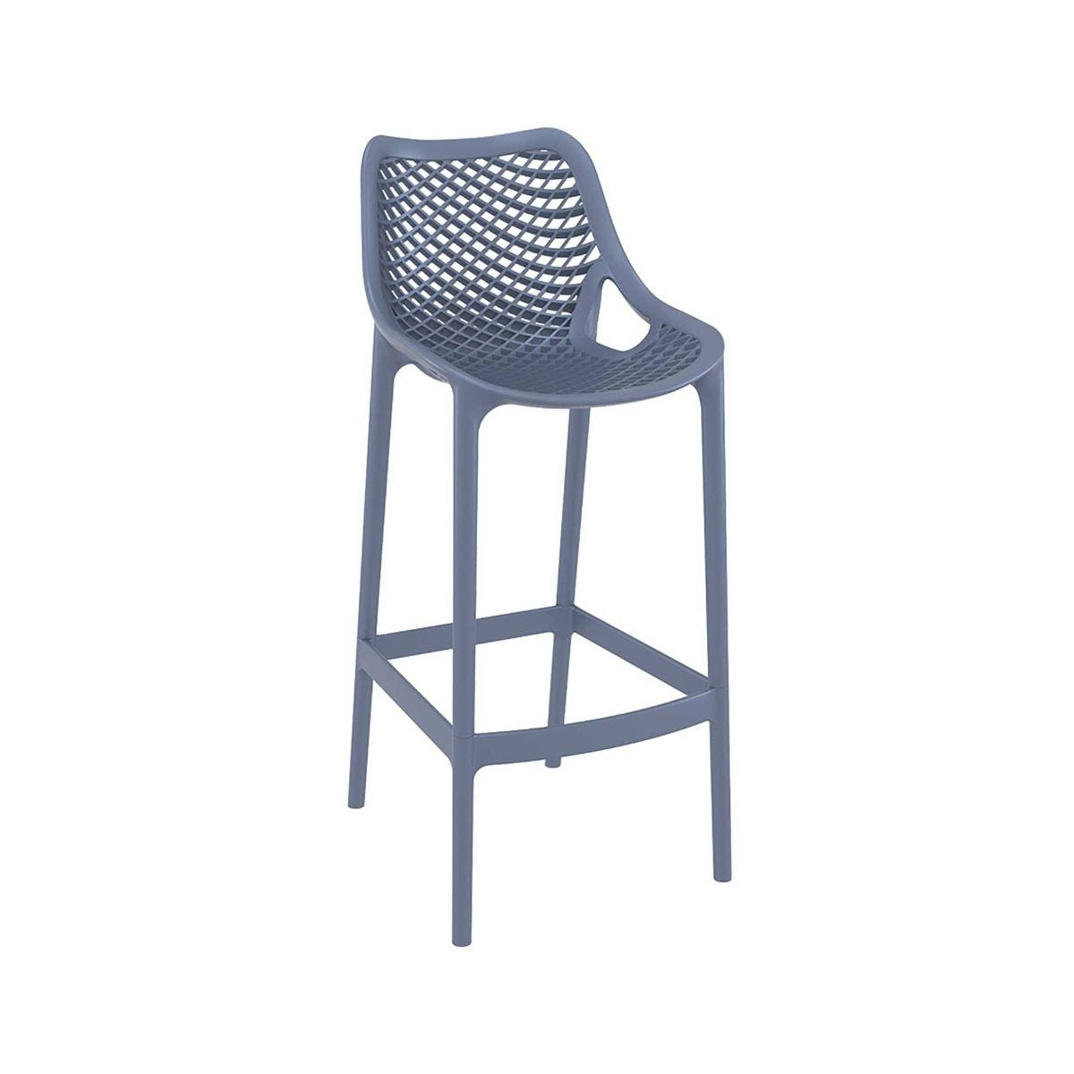Spring Outdoor Bar Stool, Anthracite